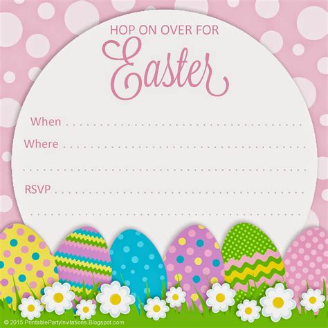 easter invitation template free printable invitations polka dot easter invitation