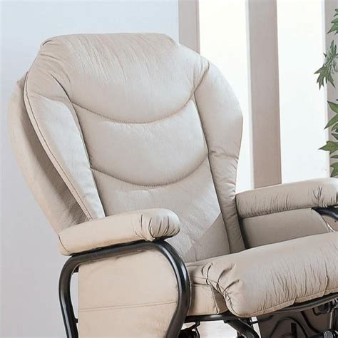 Leather Glider Rocker Recliner Chair With Ottoman Coaster Faux Leather Recliner Glider Chair With Ottoman In