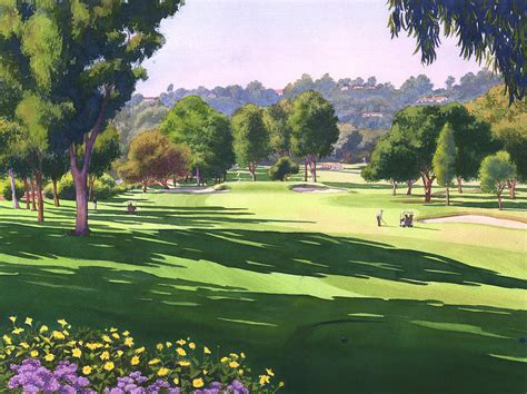 rancho santa fe golf course painting by mary helmreich
