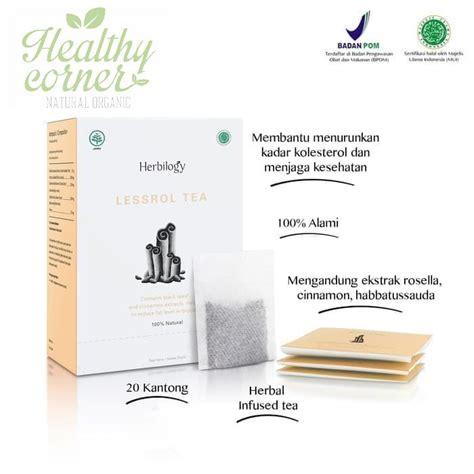 Teh Herbilogy lessrol tea teh penurun kolesterol 20 x tea bag