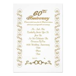 60th anniversary invitation 5 quot x 7 quot invitation card zazzle