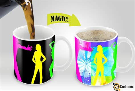 fancy coffee cups and mugs mug cup heat transfer press magic mugs amazing new heat sensitive color changing