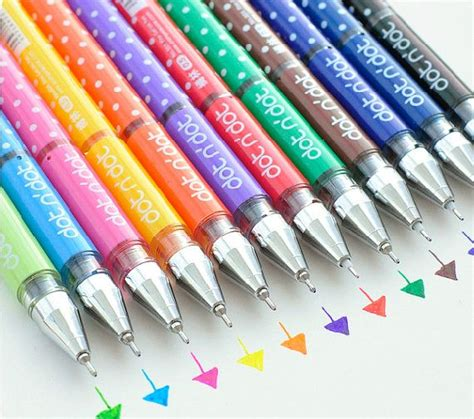 best colored pens for notes set of 12 colors gel ink pen roller pen for sticky notes