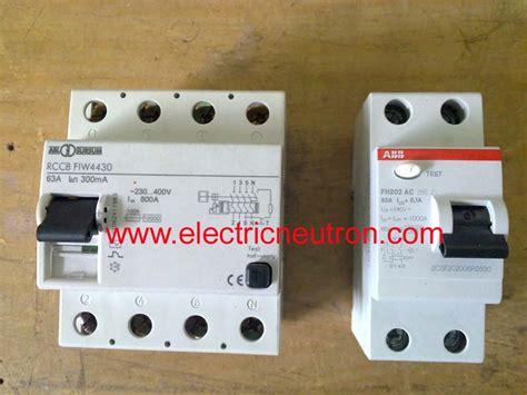 residual current circuit breaker electrical engineering