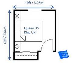 Planner 5d Feet 12 x 10ft small bedroom design for a queen size bed king in uk the