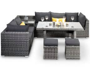 Siena Corner Sofa Verona Grey Rattan Corner Sofa With Dining Table