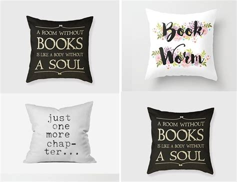 home design gifts book related cushions gift for book lover id625 home