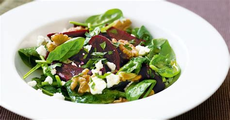 goat cheese salad beetroot baby spinach and goat s cheese salad