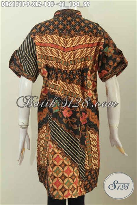 Dress Batik Dress Shanghai Batik Wanita Dress Pendek Dress Katun model baju batik dress wantia 2017 pakaian batik lengan
