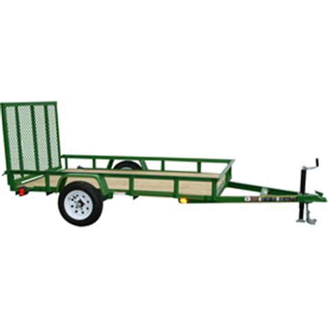 Lowes Trailer Lights by Shop Carry On Trailer 5 Ft X 8 Ft Treated Lumber Utility