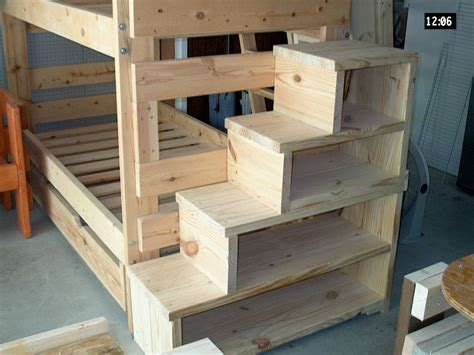bunk beds stairs solid wood custom made stairs for bunk or loft bed usmfs loft bunk beds with