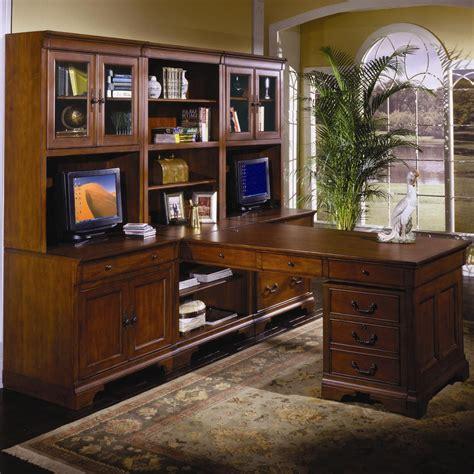 aspen home l shaped desk chateau de vin spacious executive wall t desk by aspenhome