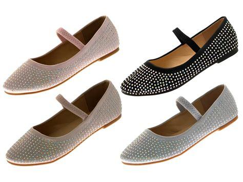 flat shoes uk satin diamante ballet pumps childrens flat