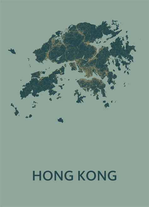 amazon hong kong hong kong amazon stadskaart poster kunst in kaart