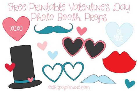 printable photo booth props valentines day free printable valentine s photo booth props the paper