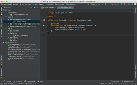 android studio review create an android project android developers