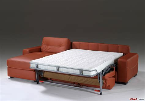 divano letto angolare in pelle divano angolare con letto matrimoniale e penisola contenitore