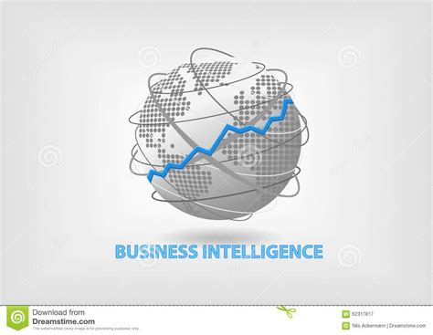 intelligence concept map what is intelligence business intelligence bi concept illustration with world
