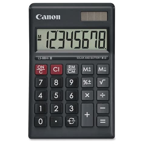 battery powered table ls canon ls 88hi iii green display basic calculator battery