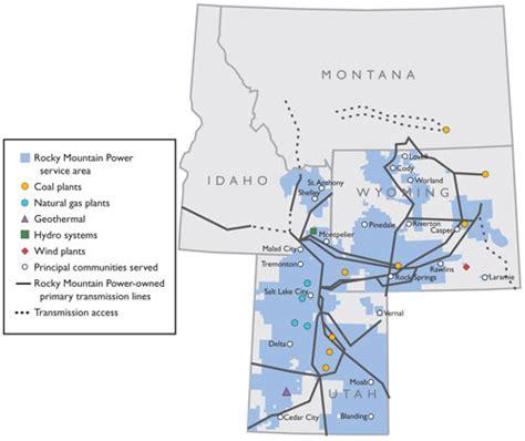 power service map gateway west transmission line project rocky mountain