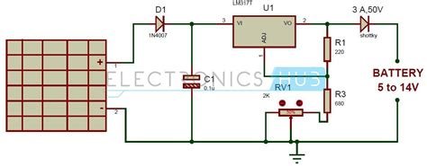 solar regulator charger solar battery charger circuit using lm317 voltage