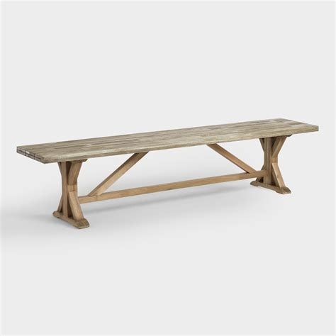 world market dining bench two tone wood san remo dining bench world market