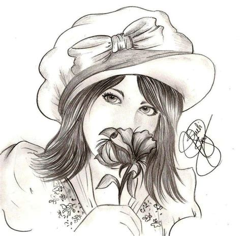 desenho mulher rosto de mulher desenho em grafite arte desenhos