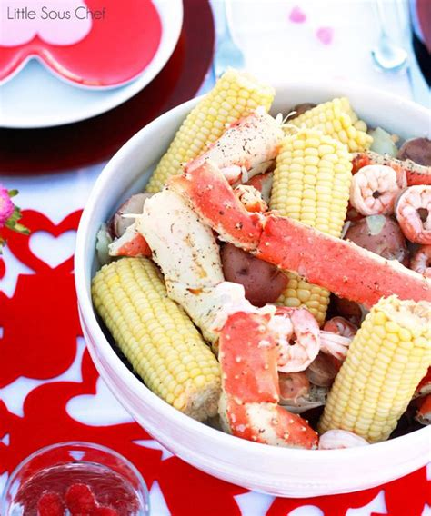 fancy seafood dinner recipe valentines king crab legs