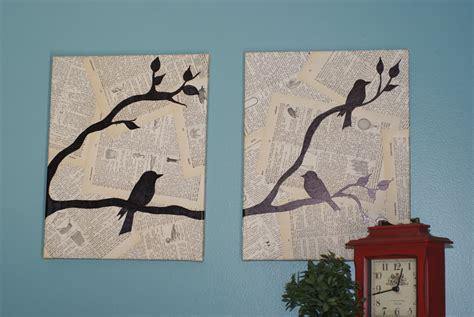 Wall Decor Birds by Crafting On A Budget Diy Bird Canvas Wall