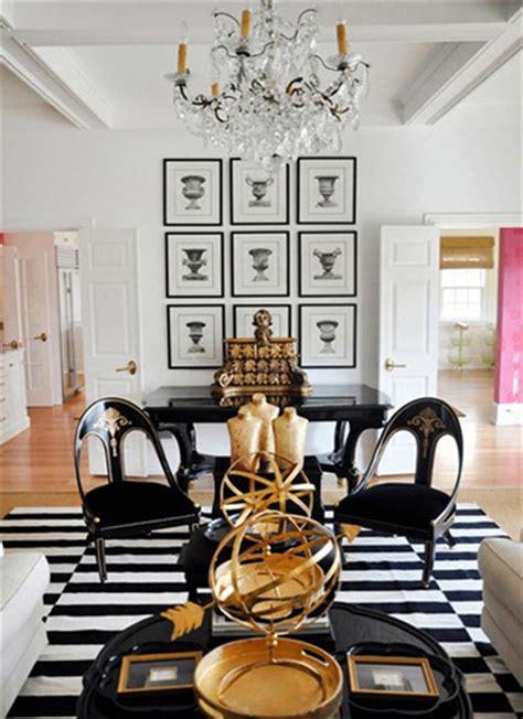 Striped Bath Rugs Belle Maison Inspiration Snapshot Black White Amp Gold Glamour