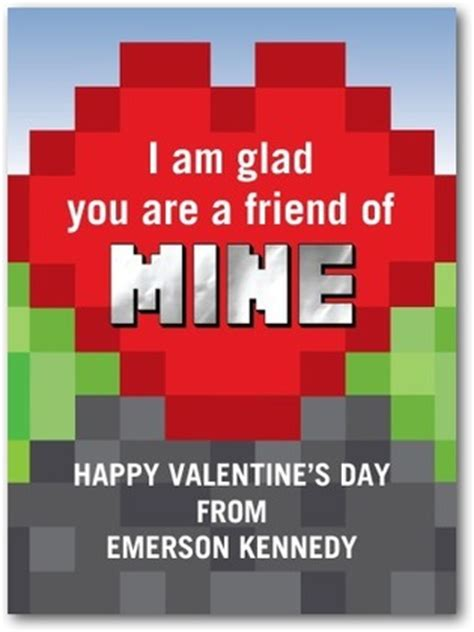 Minecraft Valentine S Day Cards - 15 pop culture valentine s day cards for kids comic con family