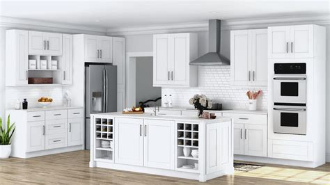 home depot white shaker cabinets shaker wall cabinets in white kitchen the home depot