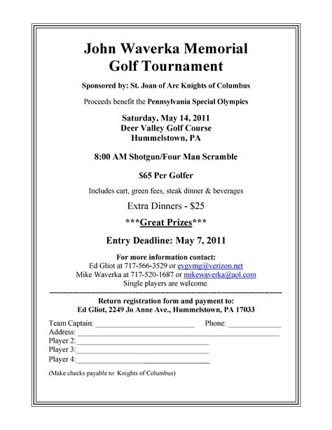 golf tournament registration template azakelj sponsors golf outing azdesign functional