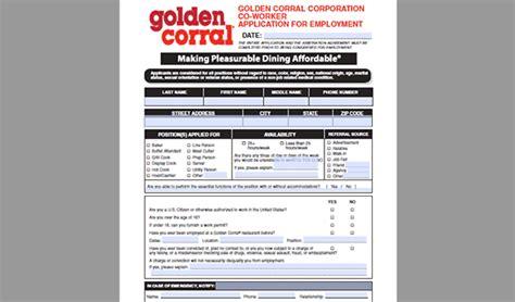 printable job application for golden corral golden corral job application adobe pdf apply online