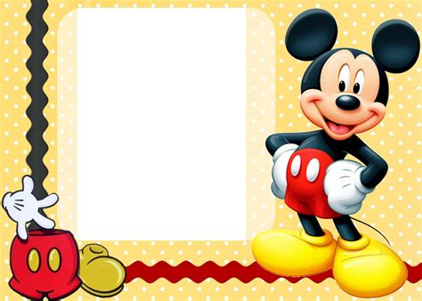 Mickey Mouse Invitation Templates mickey mouse clubhouse invitation template free