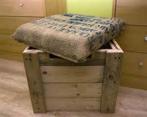burlap cushioned pallet ottoman box 99 pallets
