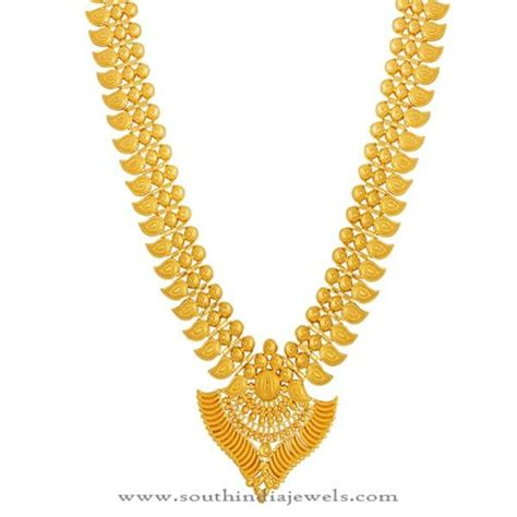 kerala gold haram design from lalitha jewellery