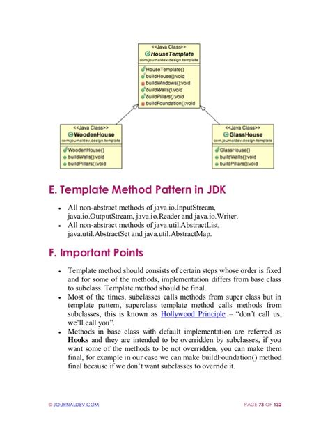 pattern library in java how to write template method in java