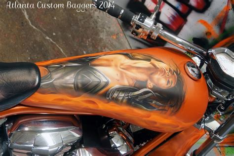 unique paint custom airbrush art atlanta custom baggers