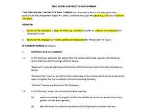 zero hour contract template free zero hours contract template uk template agreements and