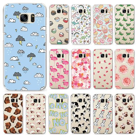Cookie Pattern Samsung Galaxy S3 S4 S5 S6 S7 Edge Casing Cover flamingo macaroon pattern phone for samsung galaxy s8 s3 s4 s5 mini s6 s7 edge plus