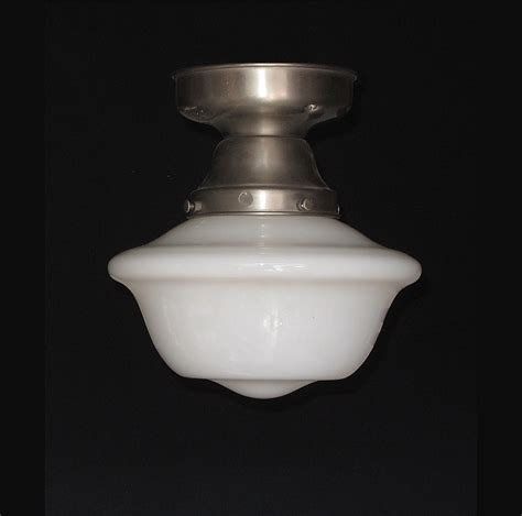 Schoolhouse Ceiling Light Fixture Vintage Schoolhouse Style Electric Ceiling Fixture From Rubylane Sold On Ruby