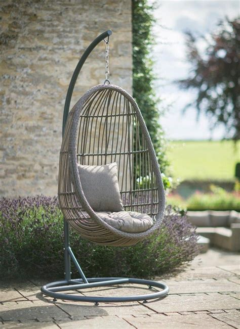 nest swing chairs our rattan nest chair comes with its own stand so your can
