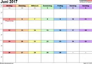 Druckversion Kalender 2017 Kalender Juni 2017 Als Excel Vorlagen