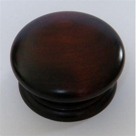 Mahogany Knobs by Knob Style D 70mm Cherry Mahogany Stain Wooden Knob