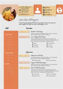 design creative cv resume template a4 portrait