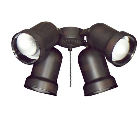 ceiling fan with spotlights troposair 463 spotlight rubbed bronze indoor outdoor