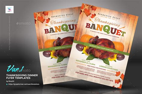 Thanksgiving Dinner Flyer Templates By Kinzishots Graphicriver Thanksgiving Dinner Flyer Template