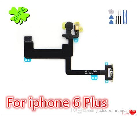 Flexibel On Proxymity Flash Iphone 6 6g for iphone 6 6g plus power button switch flex cable 6g 6s plus on ribbon mic microphone