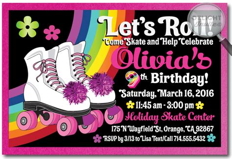 Skating Party Invitations Theruntime Com Skating Invitation Template Free